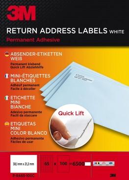 3M Lift Absender-Etiketten für Kopierer 38.1 x 21.2 mm, 6500 Etiketten