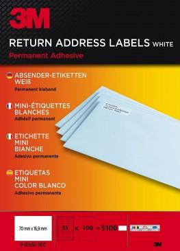 3M Lift Absender-Etiketten für Kopierer 70 x 16.9 mm, 5100 Etiketten