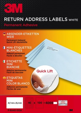 3M Lift Absender-Etiketten für Kopierer 45.7 x 25.4 mm, 4000 Etiketten