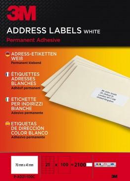 3M Adress-Etiketten für Kopierer 70 x 41 mm, 2100 Etiketten