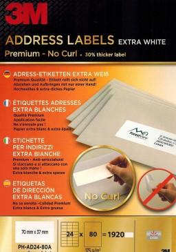 3M Adress-Etiketten 70x42.3mm 24 Etiketten pro Blatt, 80 Blatt pro Pack
