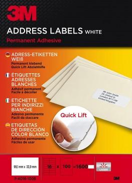3M Lift Adress-Etiketten für Kopierer 99.1 x 33.9 mm, 1600 Etiketten