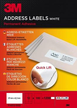 3M Lift Adress-Etiketten für Kopierer 97 x 42.3 mm, 1200 Etiketten