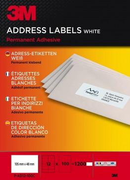 3M Adress-Etiketten für Kopierer 105 x 48 mm, 1200 Etiketten