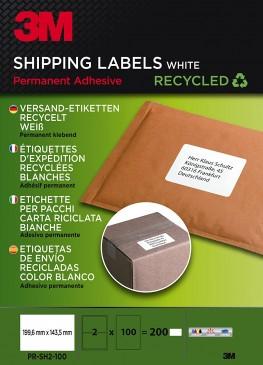 3M Versand-Etiketten für Kopierer, Laser 199.6 x 143.5 mm, 200 Etiketten