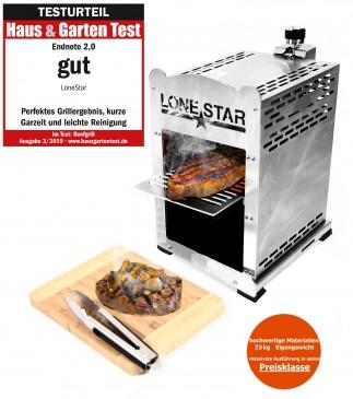 """LoneStar """"Fleischmeister"""" Edelstahl Beef Steak Grill 800 C°,Gasgrill"""
