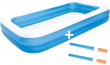 Bestway Pool aufblasbares Planschbecken 2X Wasserkanonen 66cm 305x183x46cm Schwimmbecken
