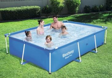 Bestway Steel Pro2 Frame rechteckig Pool mit 2300 L Fassung,ohne Pumpe
