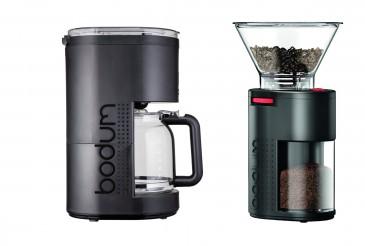 Bodum Bistro elektrische Kaffeemaschine + Kaffeemühle, schwarz - SET