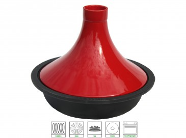 Brabantia Gusseisen Tajine Induktionsfähig, 29 cm rot