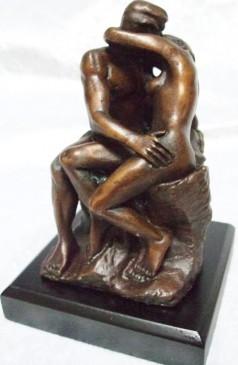 """Rodin """"Der Kuss"""" Bronze Skulptur"""