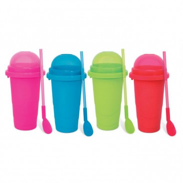 Chillfactor Slusheis Maker / Slush Eis Maschine im 4er Set, BPA-Frei