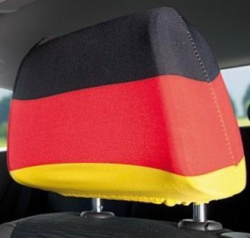 2 Stk. Kopfstützenbezug Deutschland schwarz rot gold