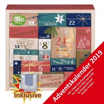 dmBIO Adventskalender 2019 mit Knabbereien, Wert 80€