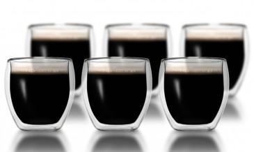 Klasique Doppelwandige Gläser 100 ml,6er Set