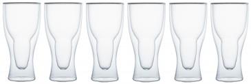 Klasique Doppelwandige Biergläser 400 ml,6er Set