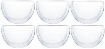 Klasique Doppelwandige Teegläser 300 ml,6er Set
