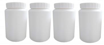 Plastikdosen mit Schraubverschluss weiss, 100 Stück
