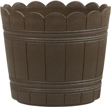 Emsa 515258 Blumenkübel für den Balkon Ø 24 cm, Shabby Chic, Braun, Country, Blumentopf