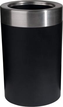 Emsa Flaschenkühler, Soft-Touch, Integriertes Kühlgel, 6 St. Kalt, Gefriergeeignet, Schwarz, Thermo