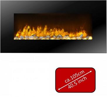 JUNG Classicfire Elektrokamin mit Heizung, Wandkamin mit 2000W