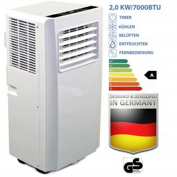 JUNG AIR TV03 mobiles Klimagerät mit FB+Abluftschlauch, 2,0KW-7000BTU