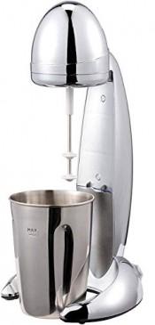 JUNG CM01 Milchshake Mixer Chromdesign, Milchshaker elektrisch 100W, Becher 600ml