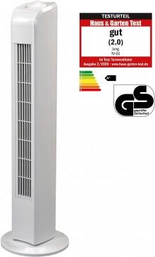 JUNG TF21 Ventilator 76cm weiss, Energiesparend 0,05 kW, Leise Turm-lüfter Lautstärke max 48dbA, Tur