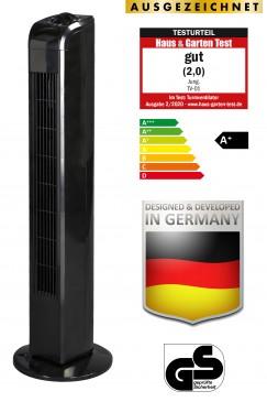 JUNG TV02 Turmventilator 76cm schwarz, TESTURTEIL 2020 - GUT