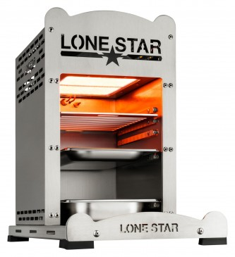 "LoneStar ""BullBurner 2"" Edelstahl Beefmaker Steak Grill bis 800 C°"