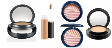 MAC Cosmetic Beautyset,(HighLight Powder, Moisturecover,2x Foundation)
