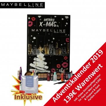 MAYBELLINE Frauen Beauty Adventskalender 2019, Wert 139 €