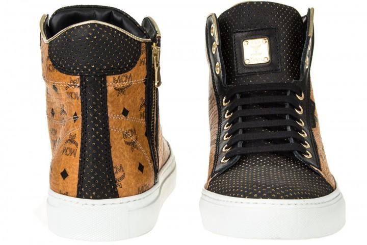 mcm urban nomad iii high cognac monogram sneaker gr 42. Black Bedroom Furniture Sets. Home Design Ideas