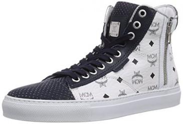 MCM Urban Nomad III high white monogram Sneaker Gr. 43