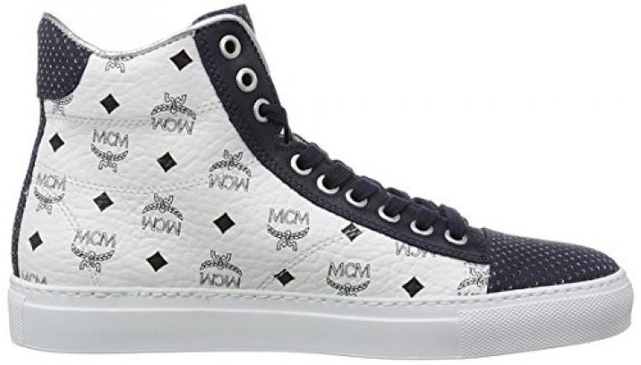 mcm urban nomad iii high white monogram sneaker gr 43. Black Bedroom Furniture Sets. Home Design Ideas