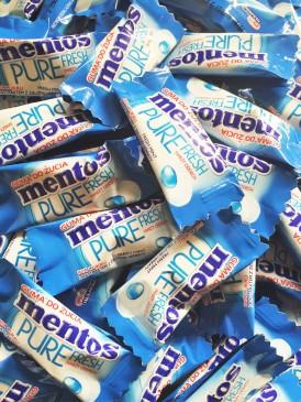 Mentos Pure Fresh Mint Kaugummis , 500 Stück