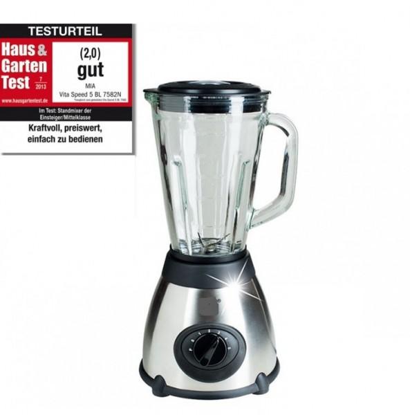 VitaSpeed Edelstahl Standmixer Smoothiemaker mit Glaskrug, 500 Watt ...