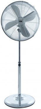 Retro Metall Standventilator 133 cm, Chrom