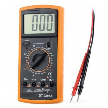 GAUGE Digital Multimeter / Voltmeter mit 2 Prüfkabeln, Spannungsprüfer