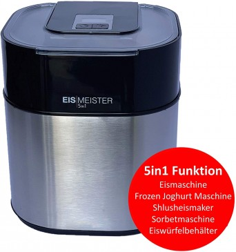 PerfectMix EISMEISTER Eismaschine Speiseeisbereiter 4in1, 1,5 L Vol