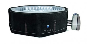 JUNG PYTHON Design Whirlpool aufblasbar achteck, Krokodil-Optik, TÜV geprüft, 5 Personen SPA Selbsta