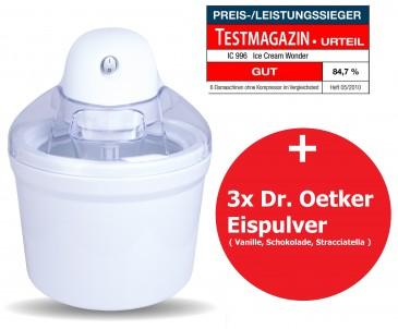PerfectMix Eismaschine / Speiseeisbereiter 4in1, 1,2 L Volumen