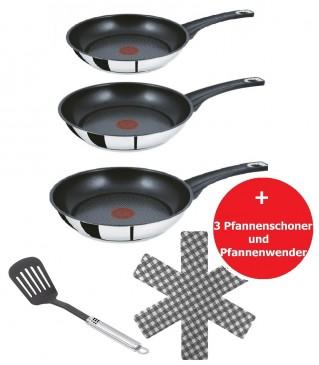 Tefal E43510 Jamie Oliver Pfannenset 5 tlg,20,26,28cm Pfannen Bratpfannen