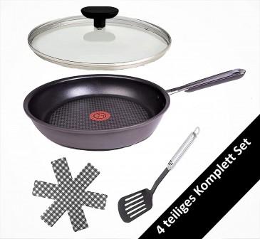 Tefal E75604 Jamie Oliver Pfanne mit Deckel 24cm Induktion, 4TLG Set, Bratpfanne, Ofenfest, für alle