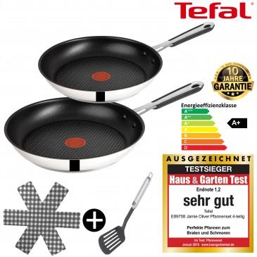 Tefal J90929 Jamie Oliver Pfannenset Induktion 4 TLG, Set Angebot
