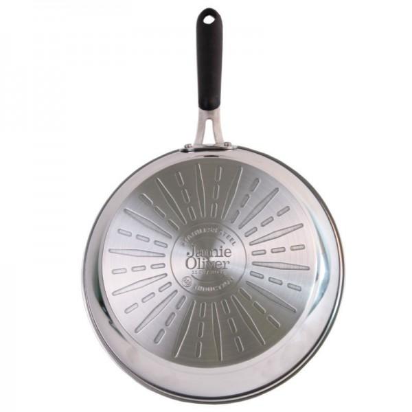 tefal e85709 jamie oliver edelstahl wokpfanne 28 cm kochen genie en haus wohnen weg. Black Bedroom Furniture Sets. Home Design Ideas