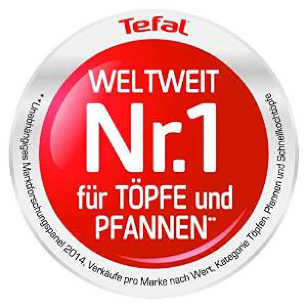 tefal c97605 ceramic control pfanne 26cm mit induktion grau kochen genie en haus wohnen. Black Bedroom Furniture Sets. Home Design Ideas