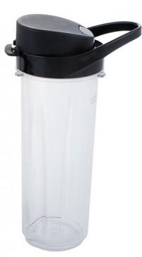 Profi Mix&Go Steel Trinkflasche / Zusatzflasche 0,6 L, schwarz