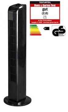 JUNG TVE22 Ventilator 76cm schwarz - BESTSELLER NR1, Lautstärke max 48dbA