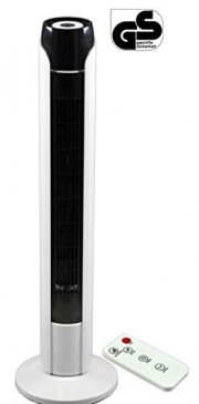 JUNG TVE23 Turmventilator Ventilator mit Fernbedienung + Timer 90cm groß, STROMSPAREND, Säulenventil